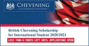 British Chevening Scholarship for International Student 2020/2021 in UK